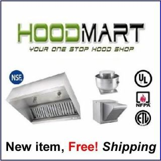 Makeup Air Exhaust Hood System Stainless Kitchen Vent Kitchen w/ Fans