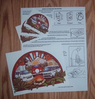 VW VANAGON CAMPER T SHIRT IRON ON TRANSFERS W / INSTRUCTIONS