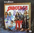 BLACK SABBATH (4) OZZY OSBOURNE +3 SIGNED ALBUM COVER W/ VINYL PSA/DNA