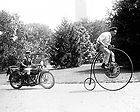 Farthing Motorcycle Photo Policeman High Wheel Bicycle Speeding Ticket