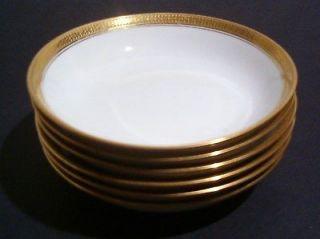 Antique Haviland China Soup Bowls 23k Limoges France NICE