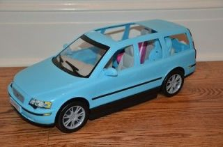 Barbie Happy Family Volvo Car Vehicle V70 SUV Van Blue Pink Car Seats