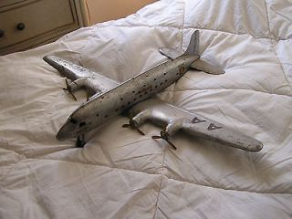 Toy Airplane VTG Steel Airplane Vtg Airplane Toy Metal Toy Airplane