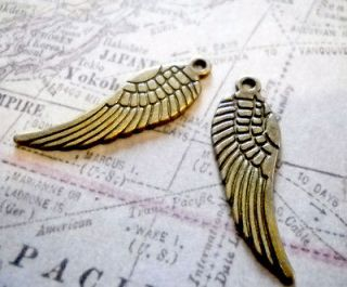 Angel Wing Charms Pendants 30mm Angel Wings Bronze Wholesale Lot 25 50