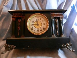 Antique Sessions mantle clock. Wind up mechanical with chimes. Made in