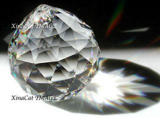 50mm Sphere Austrian Crystal Prism SunCatcher Feng Shui Fan Pull