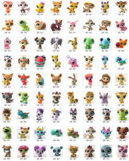 lots Littlest Pet Shop Animals Loose Figures Collection Toy 10 styles