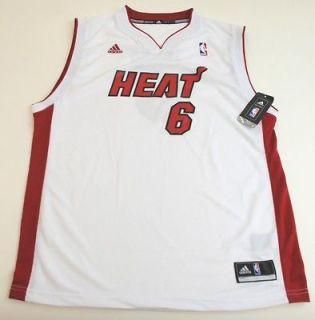 NBA Adidas Miami Heat Lebron James Youth 2012 Home Rev 30 White Jersey