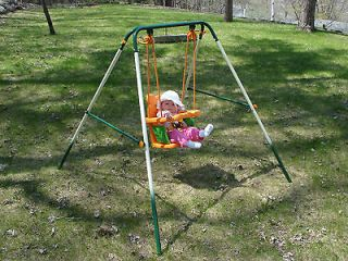 swing set slide outdoor play kids playground swingset tree new tire