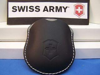 Swiss Army Watch Pouch Pocket Watch Pouch Leather Black