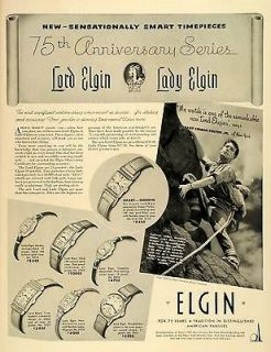 1939 Ad Elgin National Watch Co Wrist Watches Lord Jewel Robert Edison