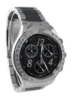 Swatch YCS485G irony chrono black dial stainless steel bracelet unisex
