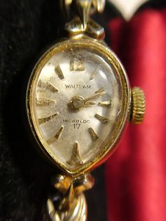 Waltham Incabloc 17 Jewels SWISS VINTAGE LADIES WIND UP WATCH WORKS