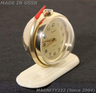 Soviet ERA ATOMIC SPACE AGE ALARM CLOCK ROCKET GAGARIN VOSTOK 1