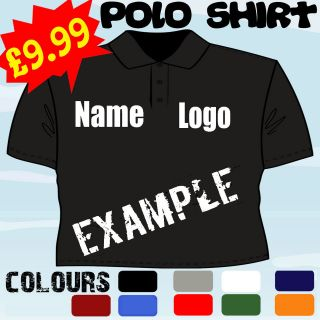 WINDOW CLEANING BUSINESS PERSONALISED LOGO POLO SHIRT