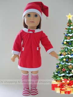 Christmas Dress Clothes Fits American Girl 18 Doll Clothes Halloween
