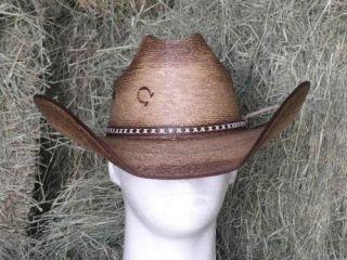 CHARLIE 1 HORSE COMANCHE PALM COWBOY WESTERN HAT