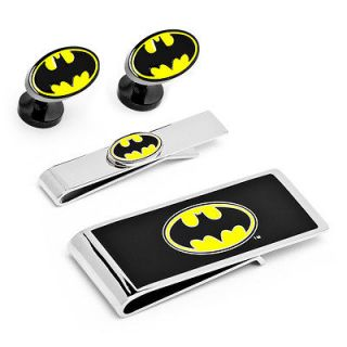 Batman 3 Piece Gift Set DC OBL 3P Cufflinks Tie Bar Money Clip Wallet