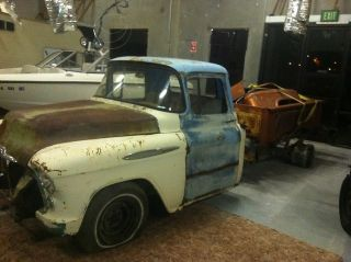 1957 chevy truck body 1989 1500 frame 350 engine pickup project parts