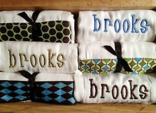 Personalized Burp Cloths in Burp Cloths