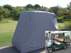 Passengers Golf Cart Cover, Fit EZ Go,Club Car,Yamaha Cart. Grey
