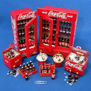 SETS OF MINIATURE COCA COLA COOLER&CRATE&FRIDGE  U28B