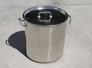 QT Full Polished Stainless Steel Stock Pot Brewing Kettle Large w/ Lid