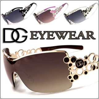 Hot Designer Brown Bubble Shades DG Eyewear Womens Fashion Sunglasses