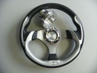 CLUB CAR DS GOLF CART CUSTOM SILVER STEERING WHEEL #700DS