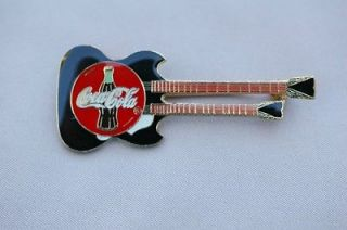 Coca Cola Gibson Double Neck Guitar Pin