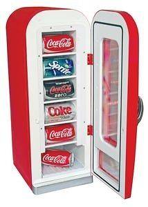 Koolatron CVF18 Coca Cola retro vending machine mini fridge Free
