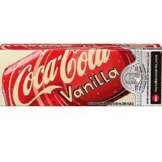 COCA COLA VANILLA COKE 12 PACK CANS SODA POP