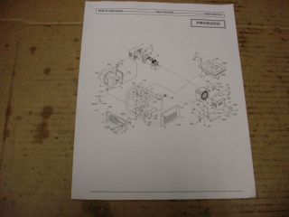 COLEMAN POWERMATE PM0483503 PM0486623 GENERATOR PARTS LIST MANUAL