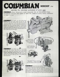 1959 ad Columbian Vises Kromiron Bench Anvils Gyro