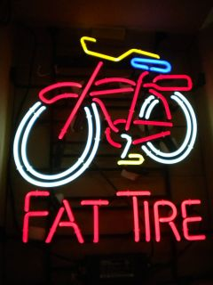 new FAT TIRE BEER BICYCLE NEON BEER SIGN big sign 4 COLOR ACTION pick