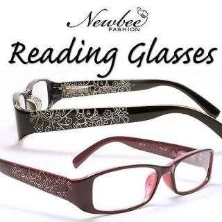 Choose Your Color Womens Spring Hinged Reading Glasses Etched Floral