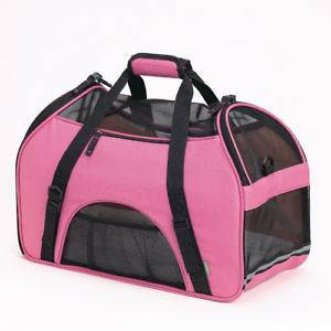 BERGAN COMFORT CARRIER LARGE PINK PET DOG & CAT SOFT TOTE