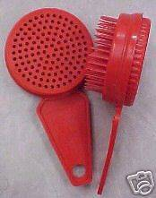 Brand New Red Self Cleaning Brush Cat Dog Horse Clean Hair puppy