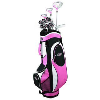 GOLF GIRL LADY RH HYBRID COMPLETE GOLF CLUB SET & PINK LADIES CART BAG