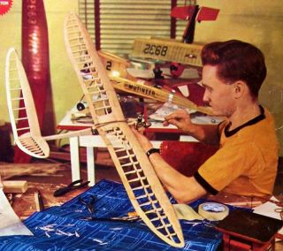 Gullwing OT FF/ RC Model Airplane PLAN + Construction Article