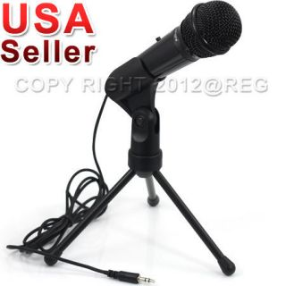 SPEECH VOCAL MICROPHONE MIC WITH STAND MOUNT FOR PC COMPUTER NEW