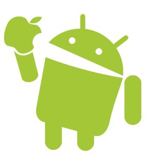 Android Eats Apple Funny Nerd Geek Computer Phone Adult Youth Women T