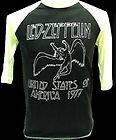 Vintage Led Zeppelin Concert T Shirt Jersey 1977 Tour L