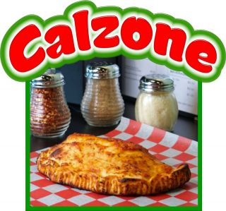 Calzone Decal 14 Concession Italian Restaurant Food Truck Mobile Menu