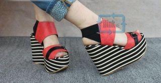 Sponge Cake High Heel Shoes Sandal Slipsole Thick Sole Girl Women