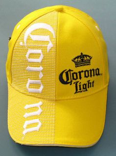 CORONA LIGHT Beer Cerveza Yellow Cap Hat