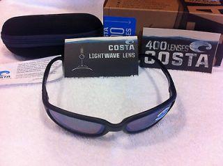 NEW Costa Del Mar Sunglasses Brine Matte Black Green Mirror Glass BR