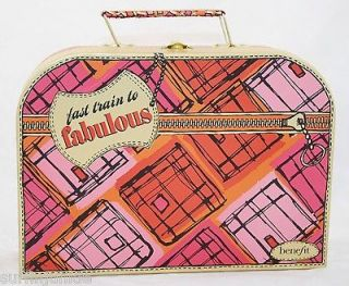 BENEFIT TRAIN CASE Cosmetic Bag Travel Makeup Skin Care Fast Shipping