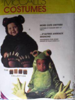 UNCUT McCalls Pattern Tom Arma Costume Frog Bear 7842