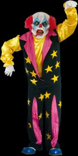 SCARY PSYCHO THE CLOWN FANCY DRESS HALLOWEEN COSTUME AND LATEX MASK